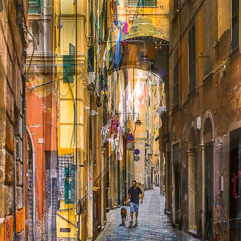 One man & his dog, Genoa