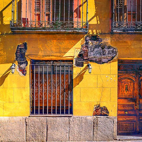 Barred window, Madrid