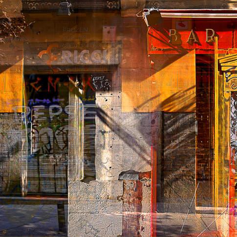 Bar shadows, Madrid