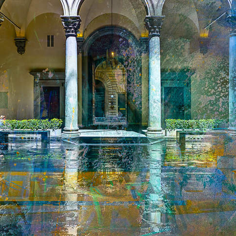 After the rain, Palazzo Strozzi, Florence