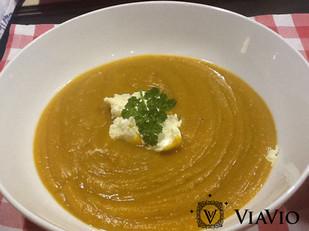 Creamy Pumpkin Soup with Strachino