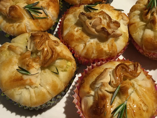 Ricotta, Broccoli & Rosemary Cup Pies