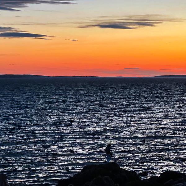 Silhouette Sunset - Bass Harbor Head Light