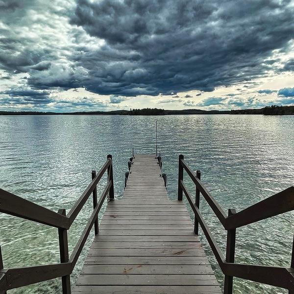 Dock on Lake Winnipesaukee