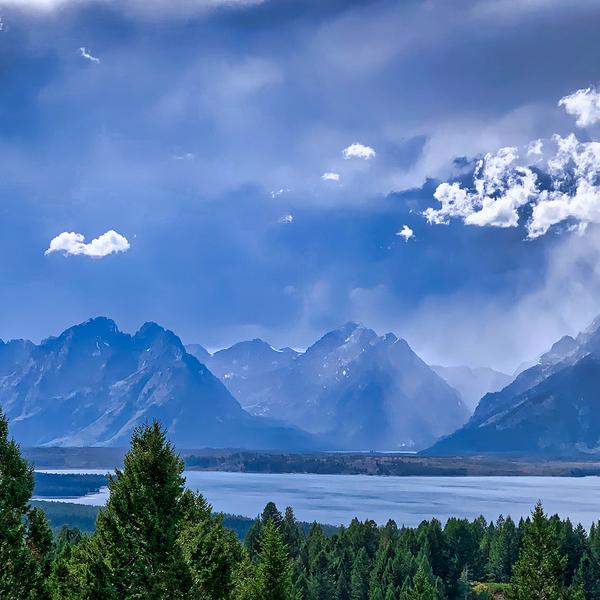 Storms over Jackson Lake and Grand Tetons