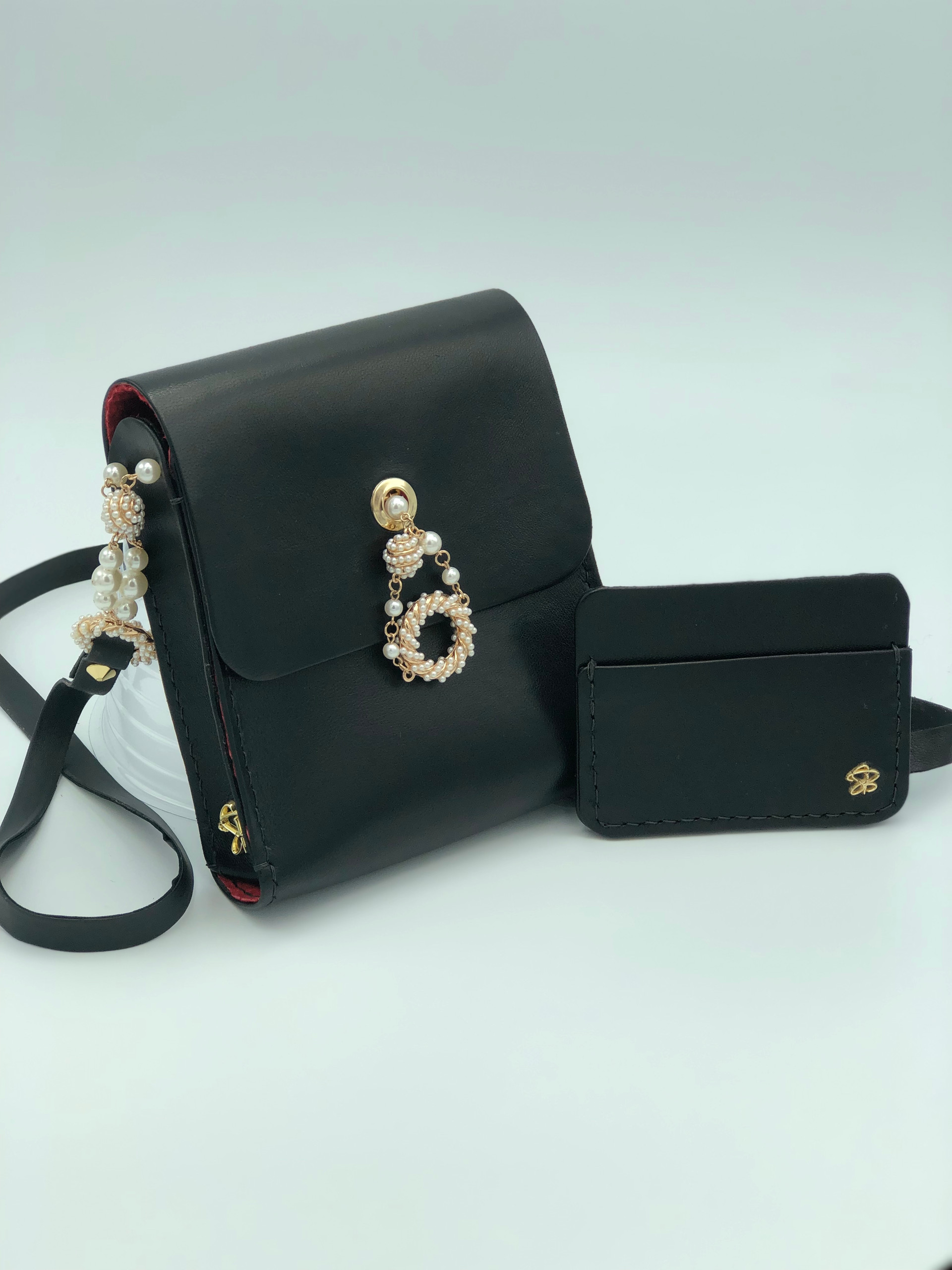 SuziBag - Black, Pearls