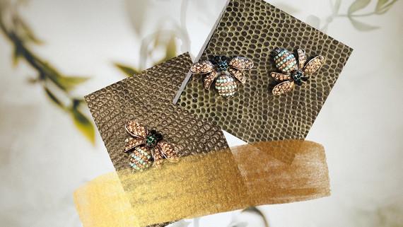 SuziBag - Small, Grey Brown, Bugs