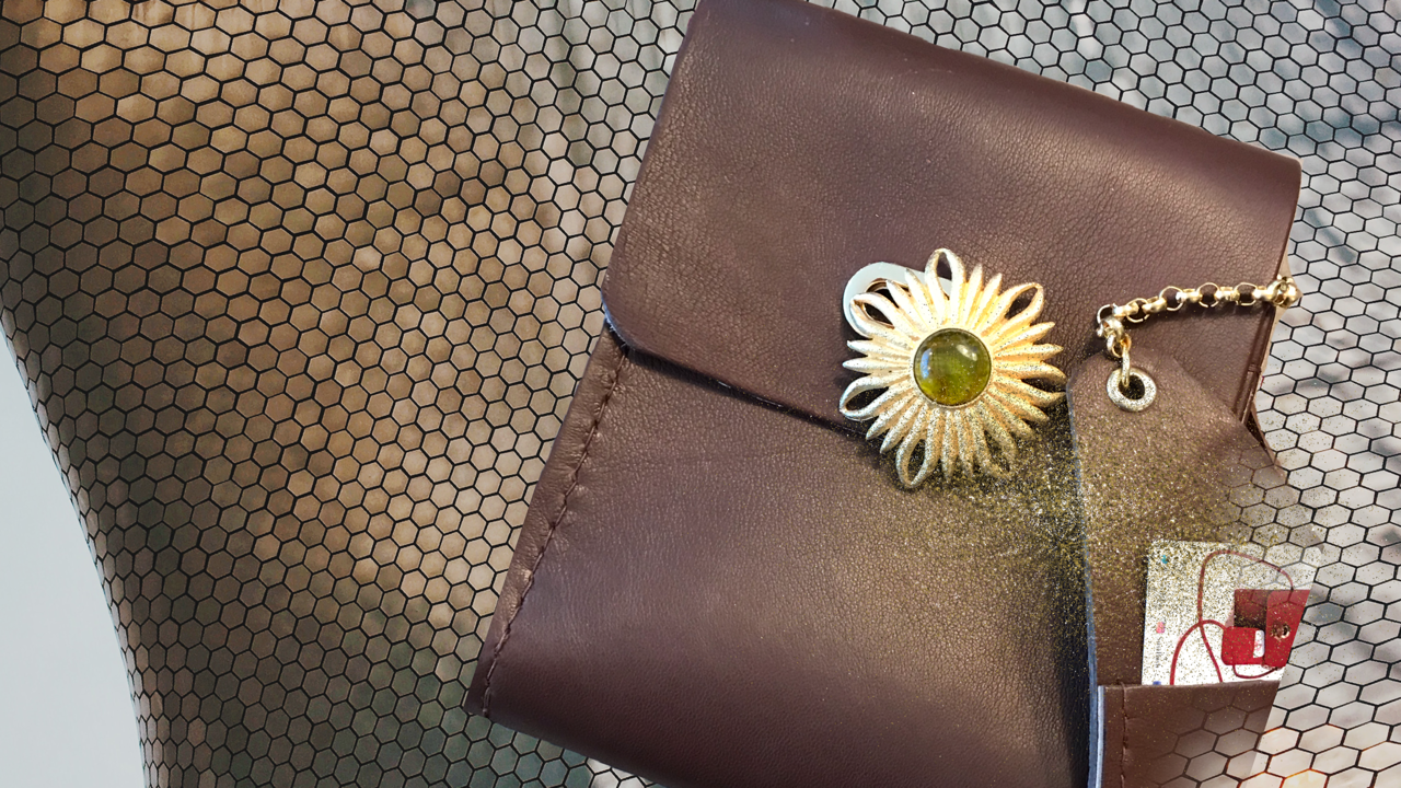 SuziBag - Coffee, Floral Green