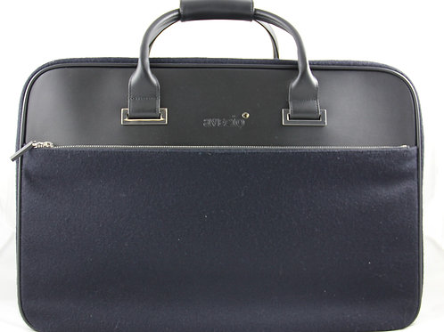 Short Travel Bag, Black-Blue