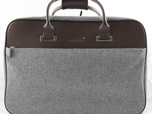 Short Travel Bag, Brown-Grey