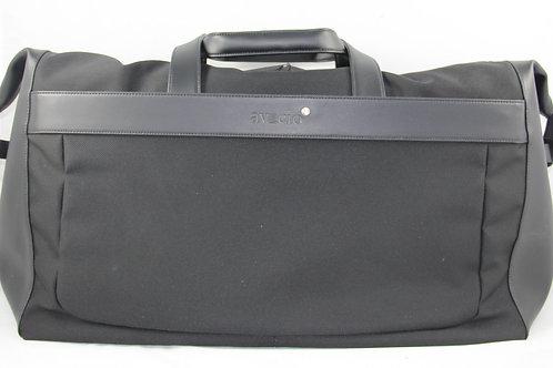 Reisetasche, faltbar, Leder-Stoff, schwarz