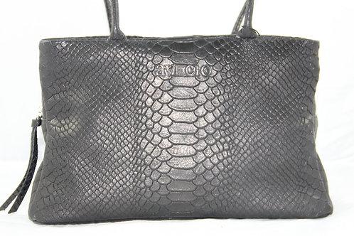 Handtasche Greta, Croc Black