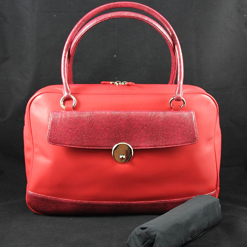 Casual Bag w. umbrella, Red/Snake Red