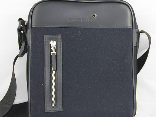 Shoulder Bag, Black-Blue