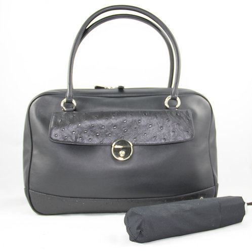 Casual Bag w. umbrella, Black/Ostrich Black