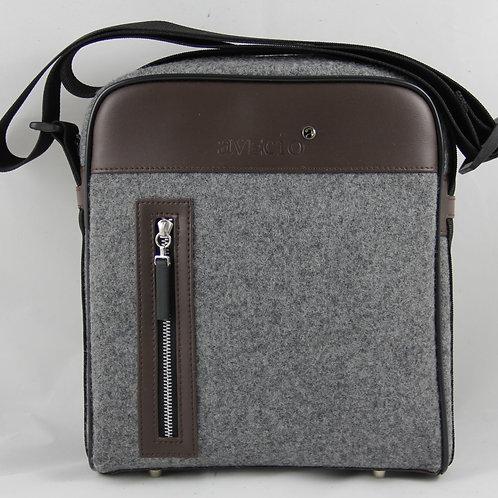 Shoulder Bag, Brown-Grey