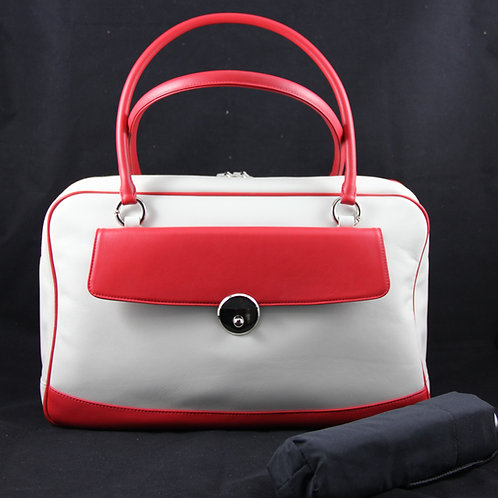 Casual Bag w. umbrella, Creme/Red