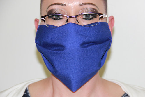 MuNa-Abdeckung, blau (Mund- & Nasenbedeckung) OHNE Nasenbügel