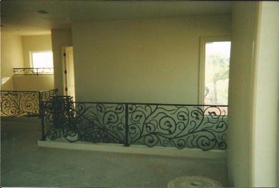 Custom fabrication bronze railing