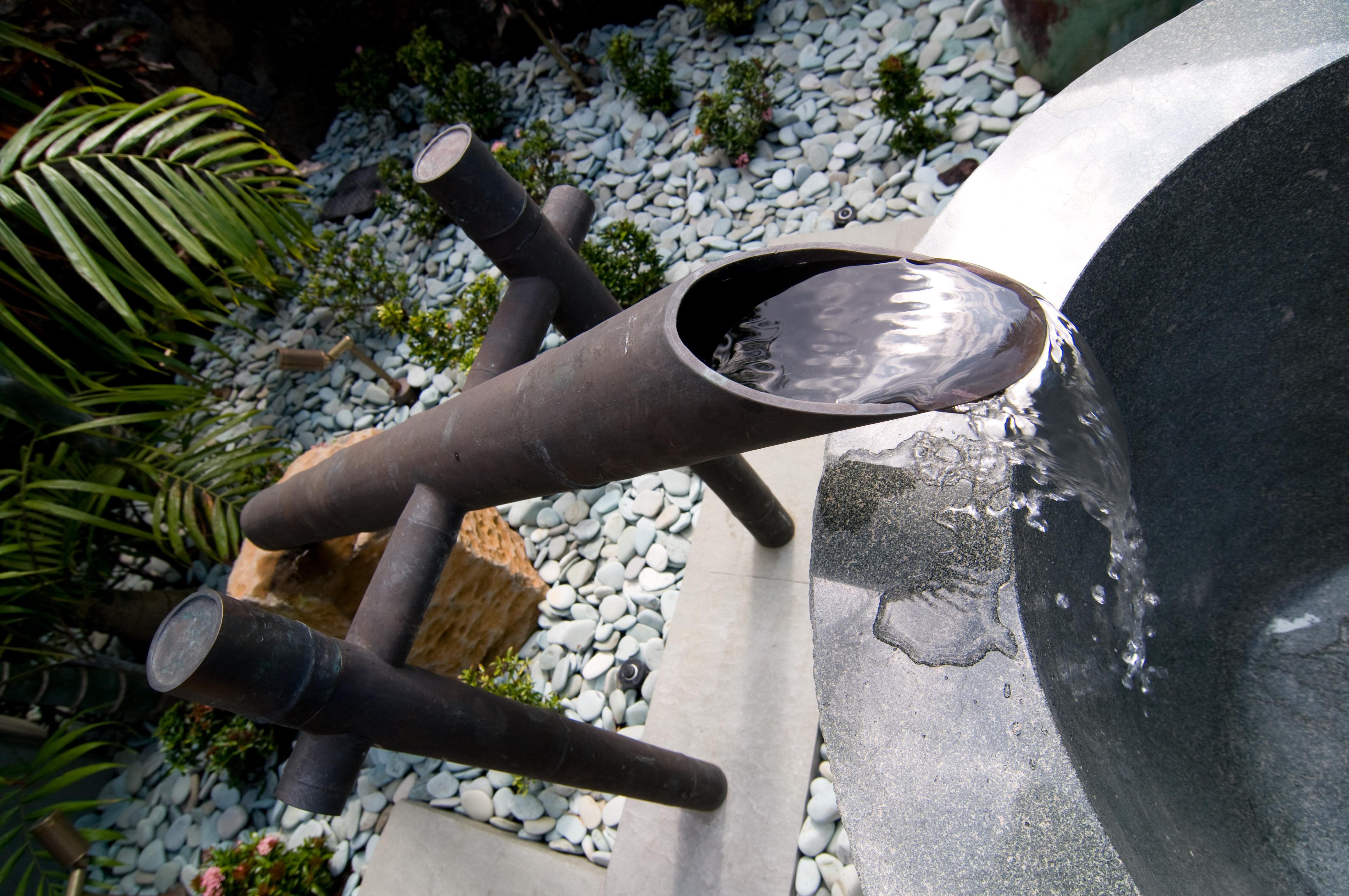 Bamboo faucet