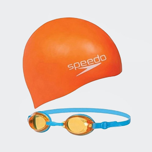 Set Speedo infantil de gorro y lentes para natación - 09302B996