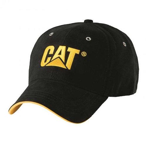 Gorra CAT Microsuede negro/amarillo - W01434