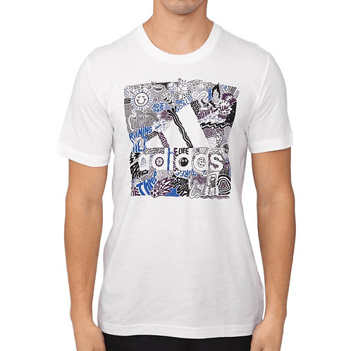 Playera Adidas Doodle Badge of Sport blanco - FN1752