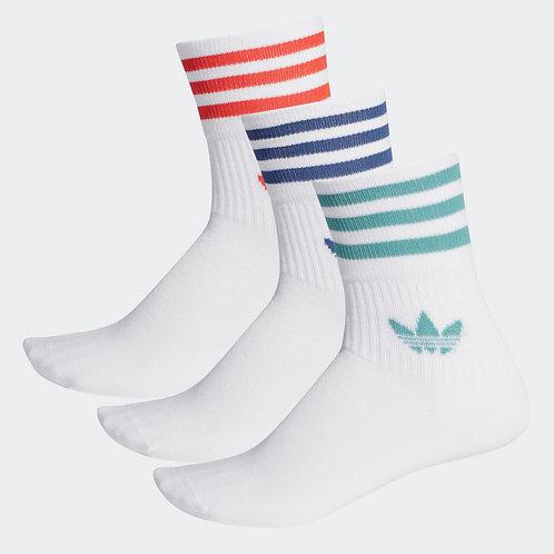 Calcetines Adidas Clásicos Mid-cut 3 pares (unisex) - FM0639