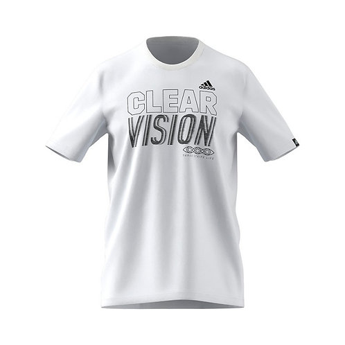 PLAYERA ADIDAS CLEAR VISION AEROREADY BLANCO - GS6259