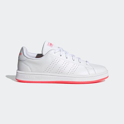 Tenis Adidas Advantage Base B para mujer blanco/rosado - FW0987