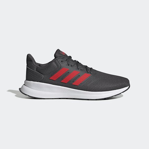 Tenis Adidas Runfalcon gris/rojo para hombre - EG8602