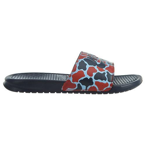 Sandalia Nike Benassi JDI Print azul/rojo - 631261-405