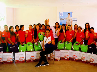 Kit Distribution for Beauty Care NCII Trainees in Initao