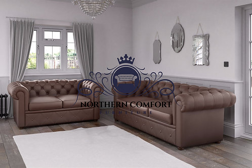 Chesterfield in Tobacco Malaga Bonded Leather