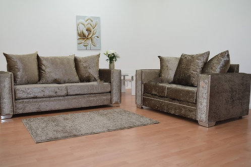 Abbey Sofa in Chocolate Crushed Velvet