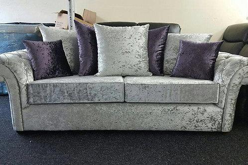 Rose Sofa in Silver/Purple Crushed Velvet
