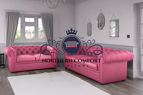 Chesterfield in Pink Malaga Bonded Leather