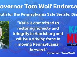 Endorsed by Governor Wolf!