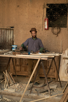 Travail sur bois - Maroc