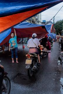 Marché et scooter - Vietnam
