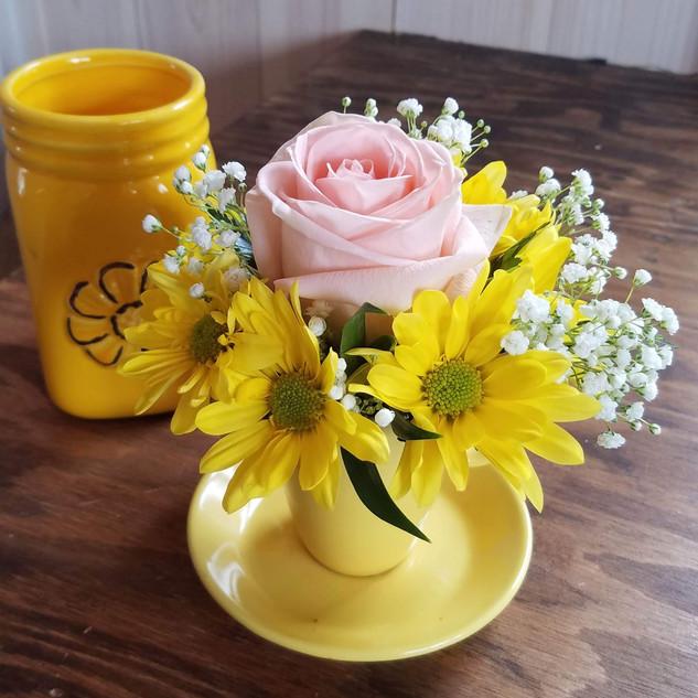 Spring tea cups