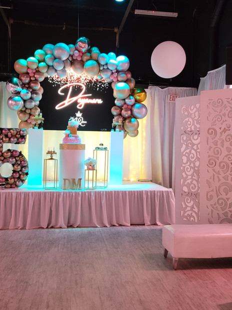15th birthday themed party venue in Miami
