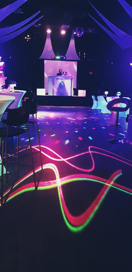decoration with led lights in teen party