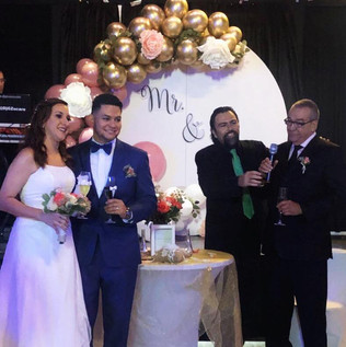 Just married at wedding in miami