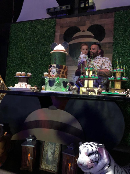 Mickey safari baby shower party
