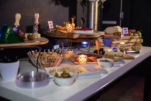 free food bar for guests in event hall