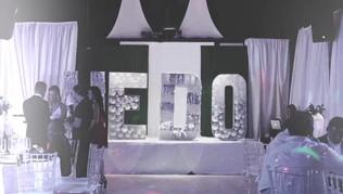 Arrangement of balloons for wedding in miami