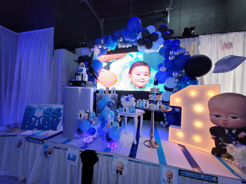 baby boss themed kids party in miami