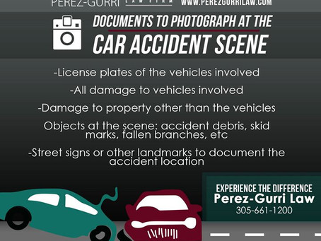 Documents to Photograph at the Car Accident Scene