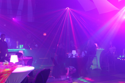 light show at teen party in event venue